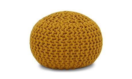 Riley (Mustard Yellow) Pouf