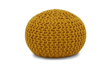Riley (Mustard Yellow) Pouf