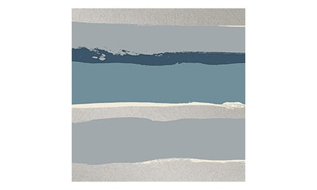 Blue Metallic Stripe Small Wallpaper