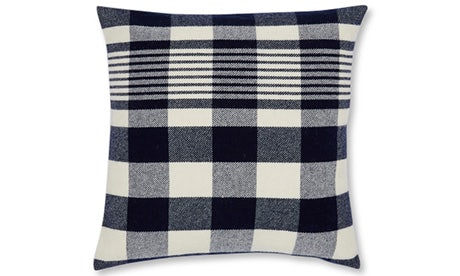Plaid (Navy) Pillow