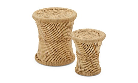 Natural Blaze Stool Tall (Set of 2)