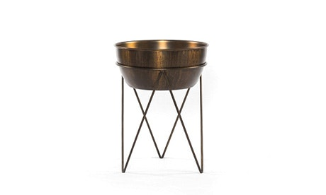 Janey Brass Planter