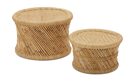 Natural Blaze Stool Short (Set of 2)