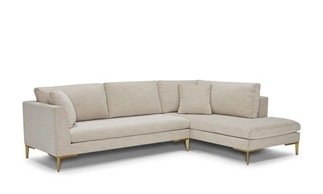 Ainsley Sectional with Bumper