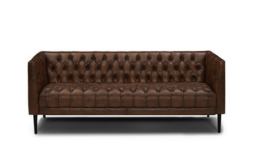 "Vaughn 76"" Leather Sofa"