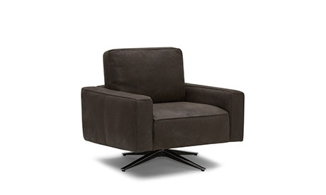 Nova Leather Swivel Chair