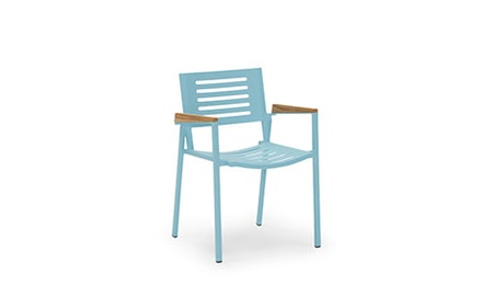 Orly (Teal) Outdoor Dining Chair (Set of 4)