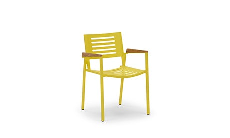 Orly (Yellow) Outdoor Dining Chair (Set of 4)