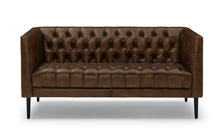 Vaughn Leather Apartment Sofa