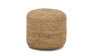 Bari Braided Pouf