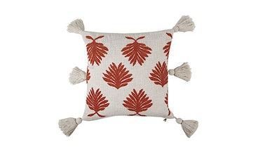 Tufted Motif Rust Pillow