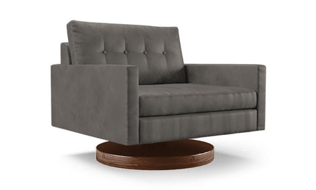 Hopson Leather Swivel Chair