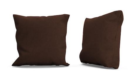 Decorative Leather Knife Edge Pillows (Set of 2)