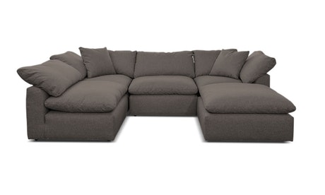 Bryant U-Sofa Bumper Sectional (5 piece)