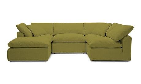 Bryant U-Sofa Bumper Sectional (5 piece)