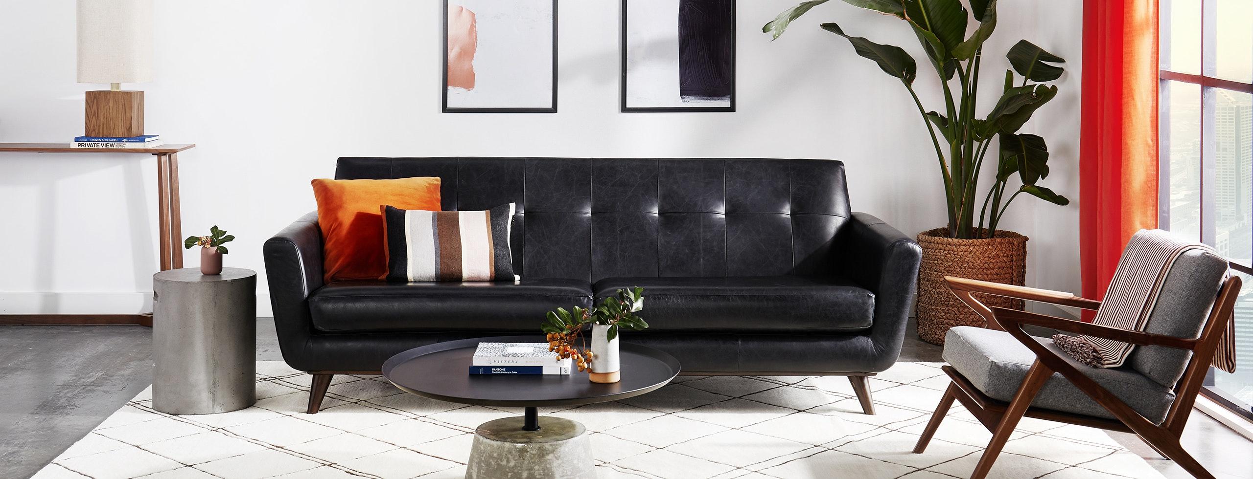 Hughes Leather Sofa Joybird