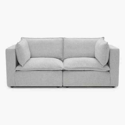 Haine Corner Chair Loveseat Milo Dove