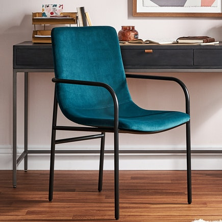 Rea Dining Arm Chair Royale Peacock pdp