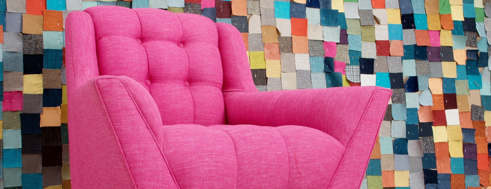 shown in Key Largo Bubblegum Fabric