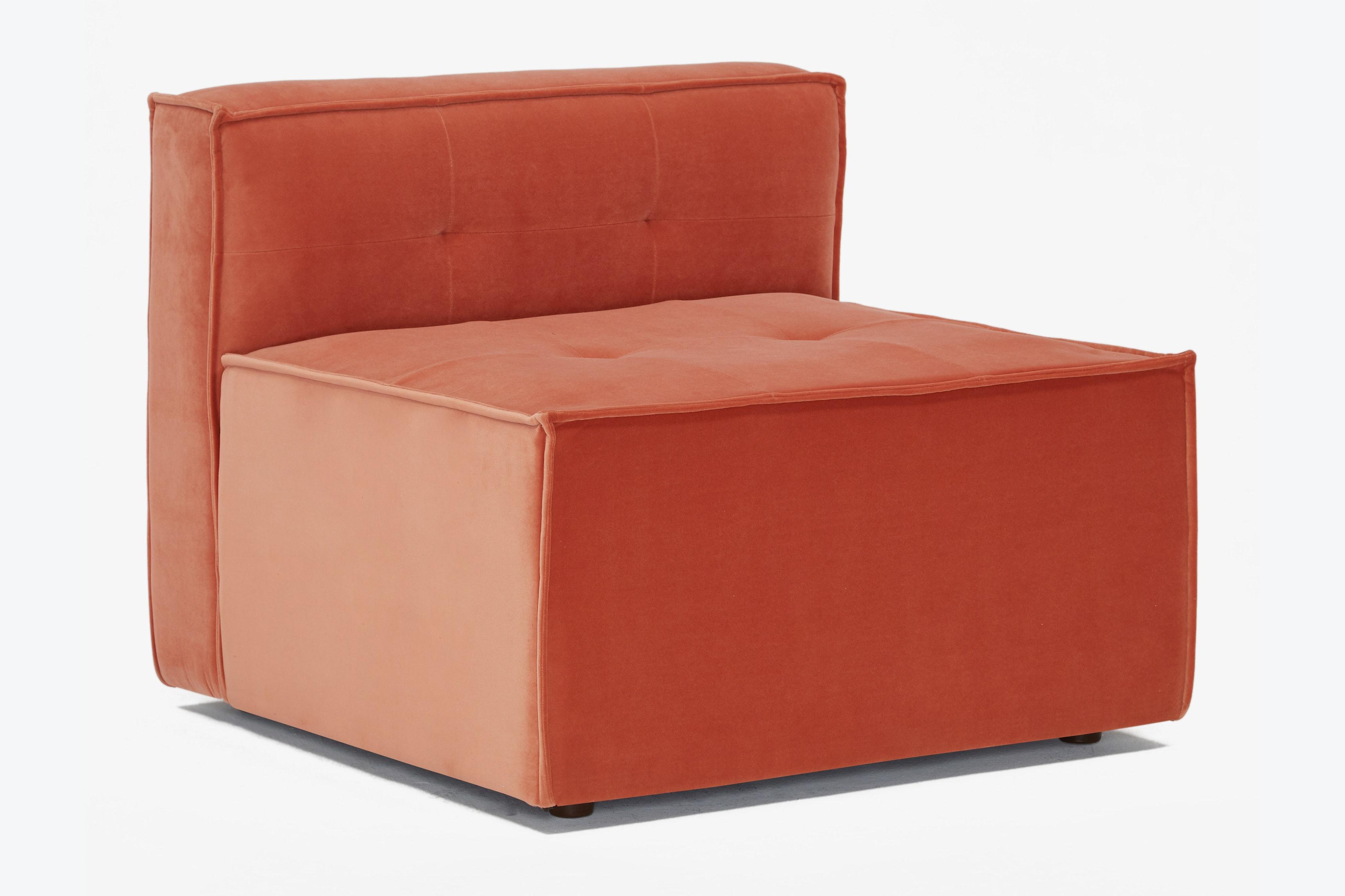Matias Armless Chair Sorrento Coral
