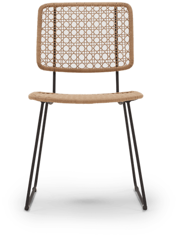 natural cabrillo outdoor dining chair