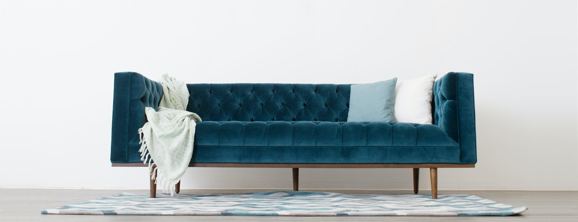 shown in Elizabeth Ocean Fabric
