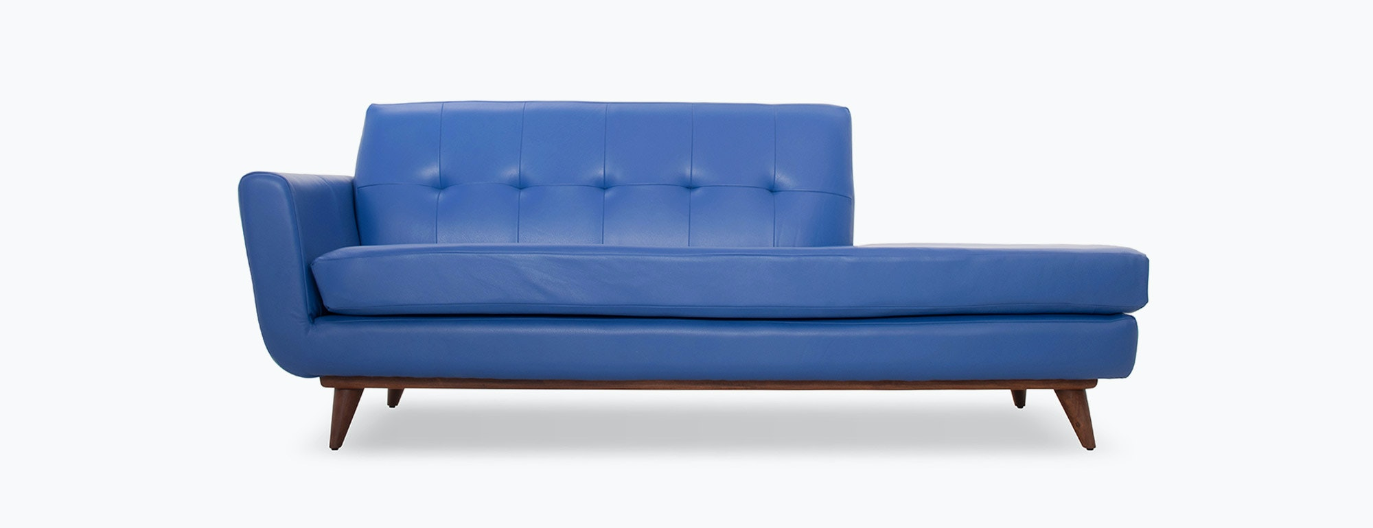 hughes leather chaise  joybird - shown in brighton matisse leather