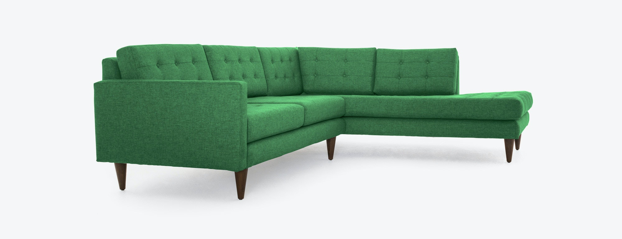 shown in Key Largo Kelly Green Fabric : elliot sectional sofa - Sectionals, Sofas & Couches