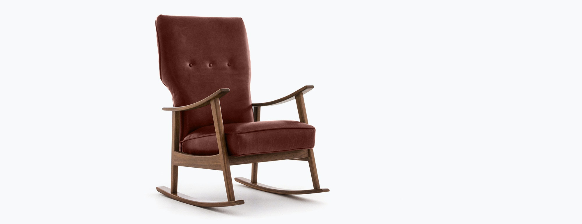 Keyser leather rocking chair joybird