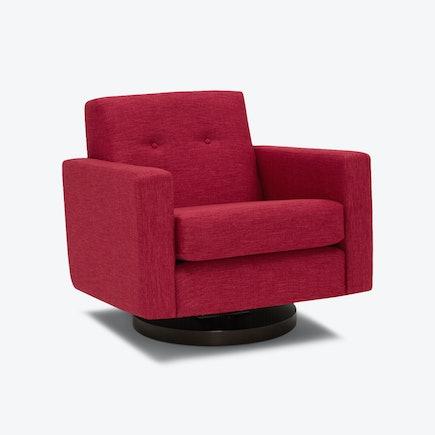 Korver Swivel Chair Key Largo Ruby