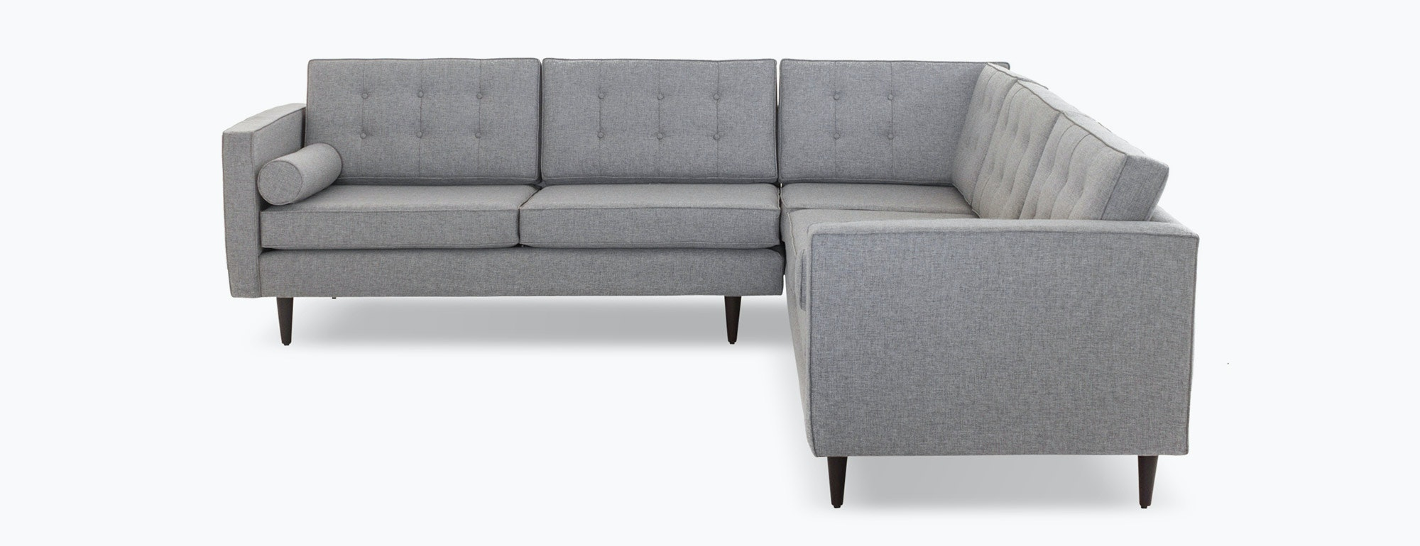 shown in Taylor Felt Grey Fabric