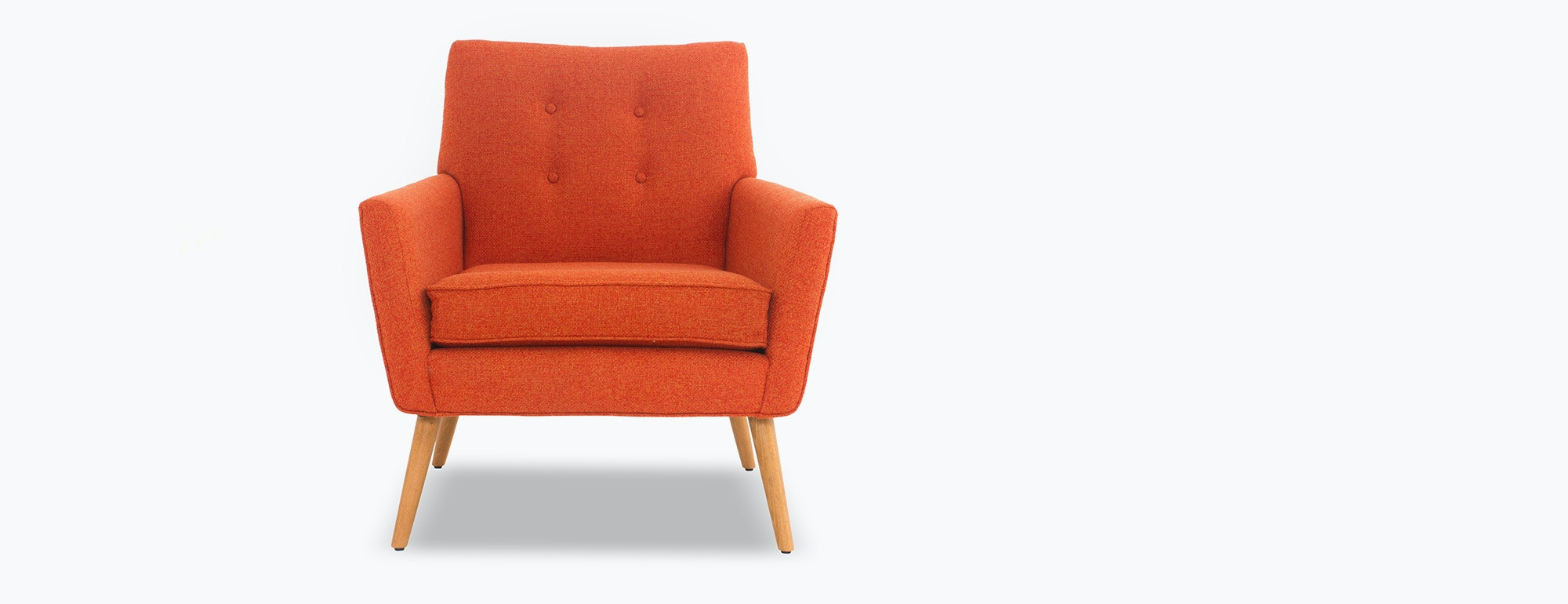 shown in Sync Tangerine Fabric