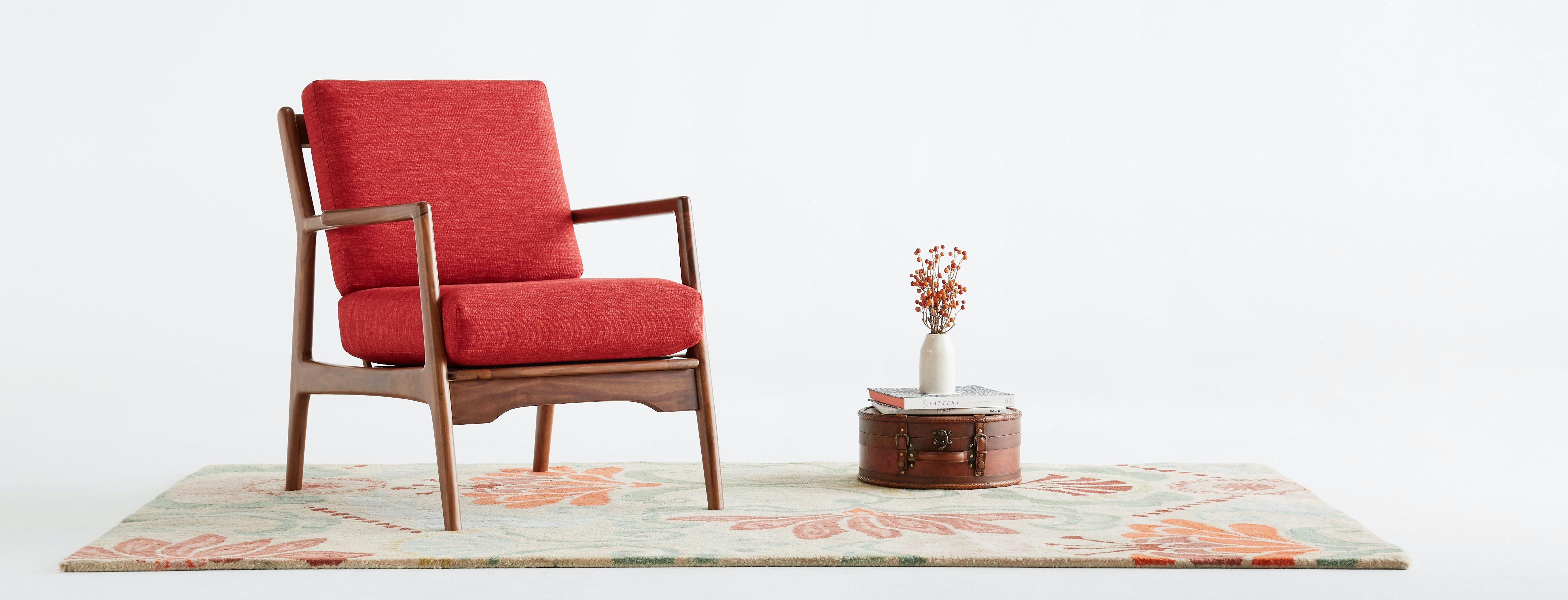 shown in Key Largo Ruby Fabric