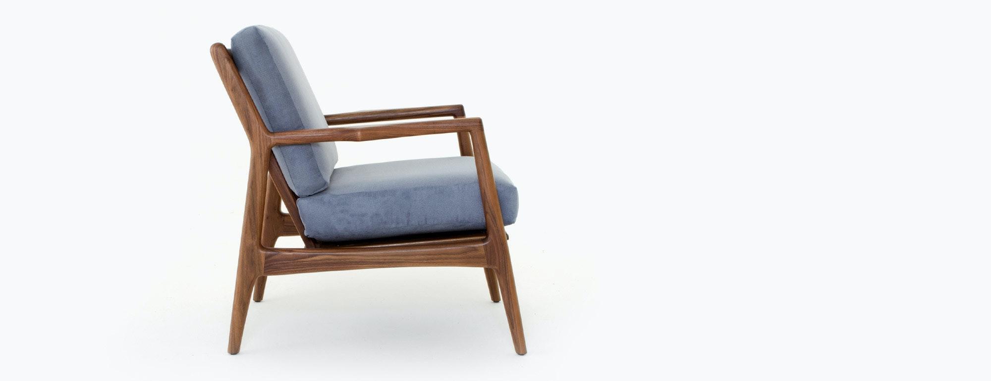 shown in Echo Slate Fabric