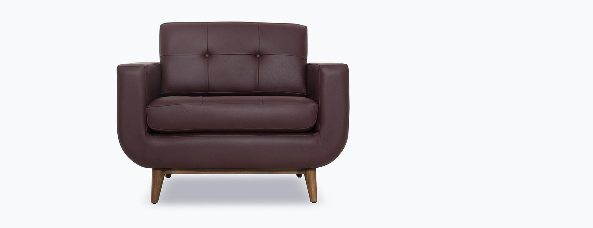 shown in Brighton Aubergine Leather