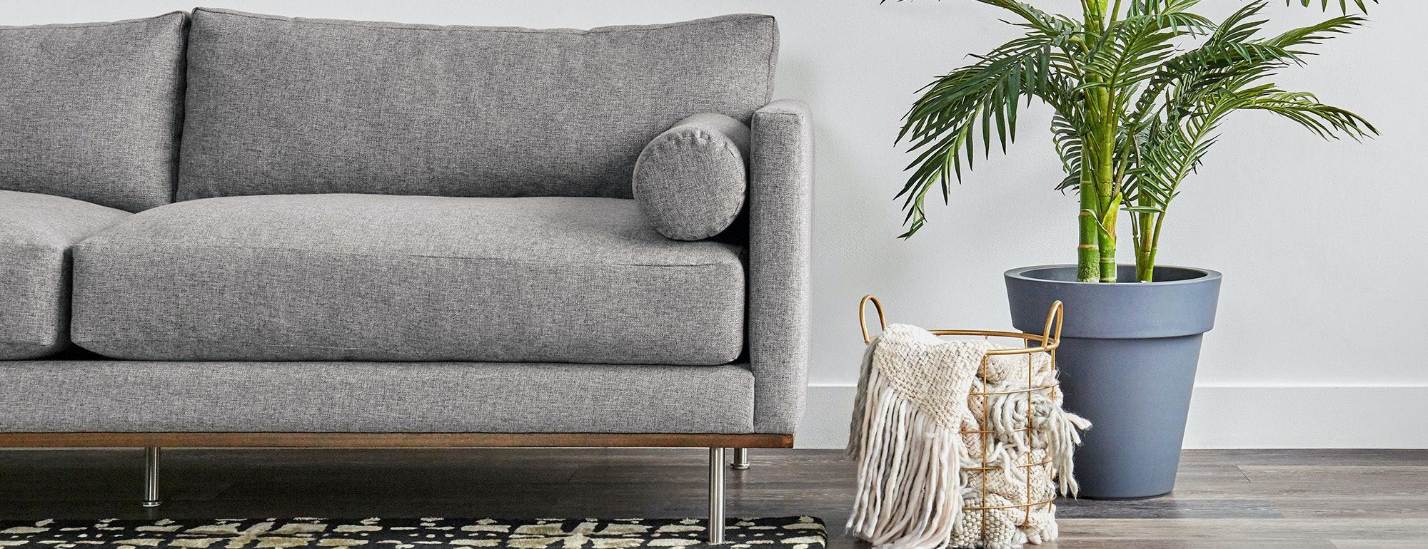 shown in Taylor Felt Grey Fabric