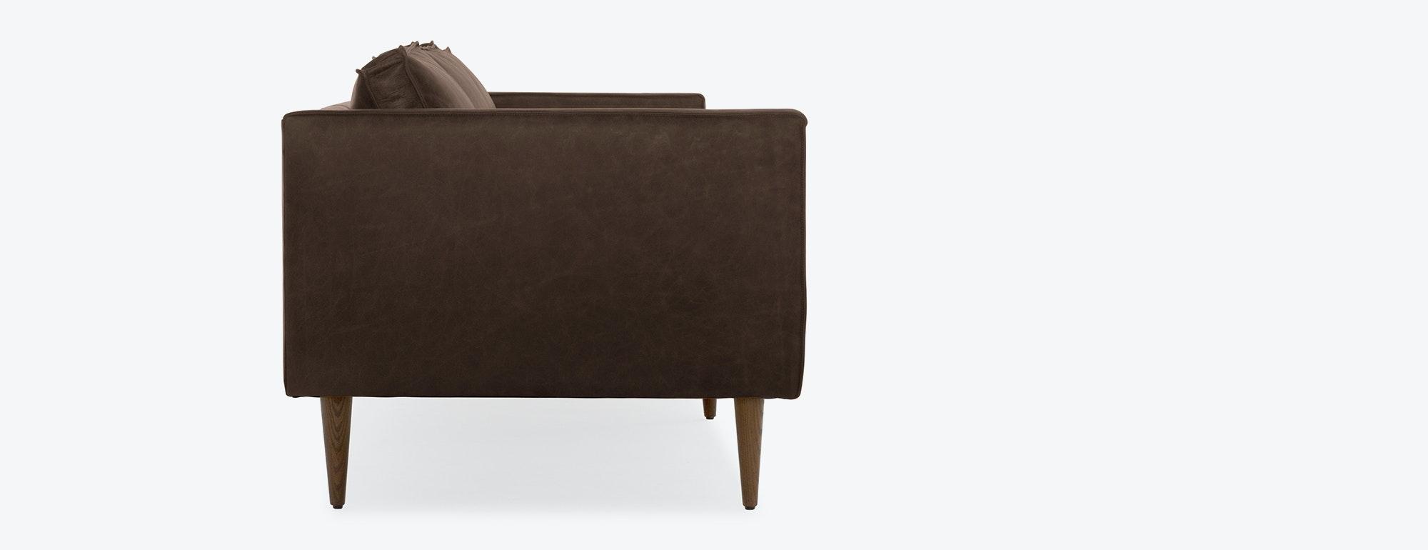 shown in Brompton Mocha Leather