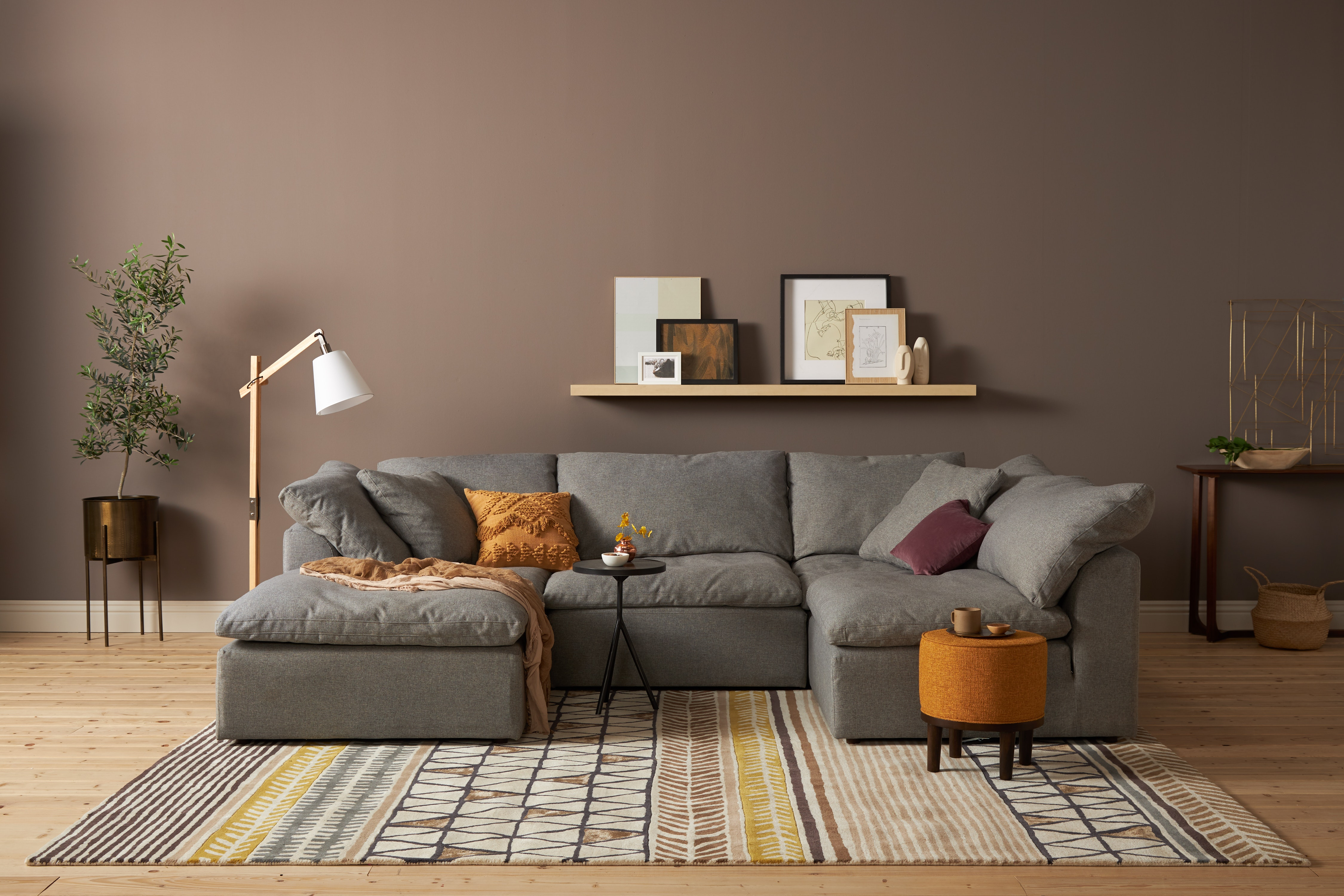 Peachy Bryant U Sofa Bumper Sectional 5 Piece Bralicious Painted Fabric Chair Ideas Braliciousco
