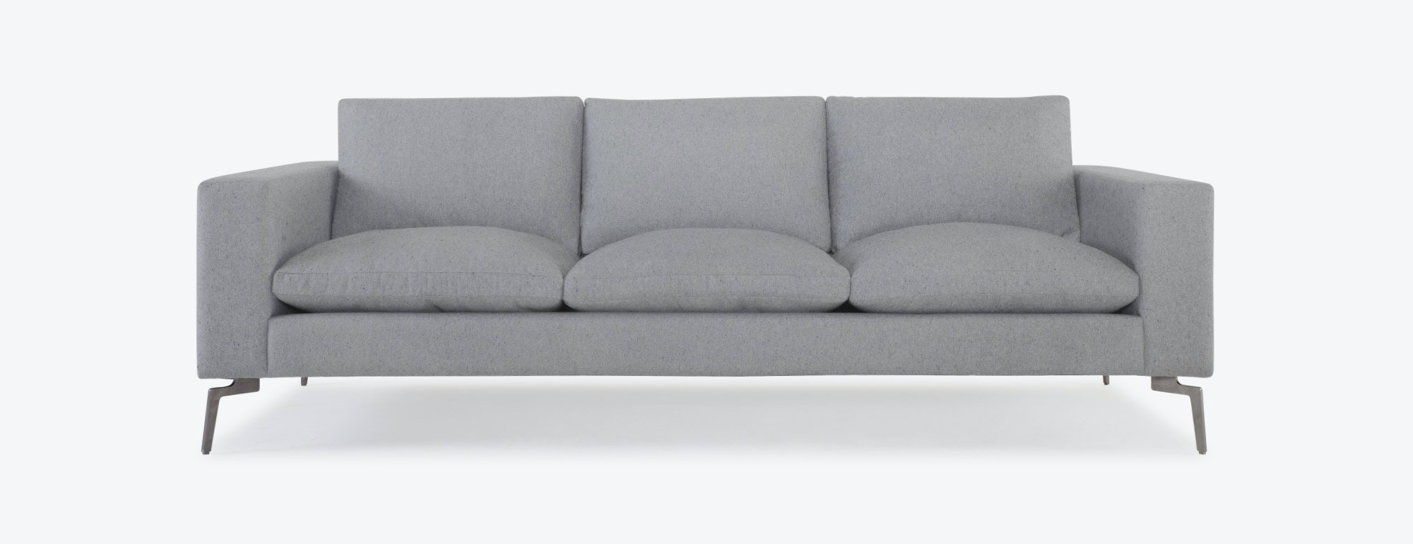shown in Expectation Heather Grey Fabric