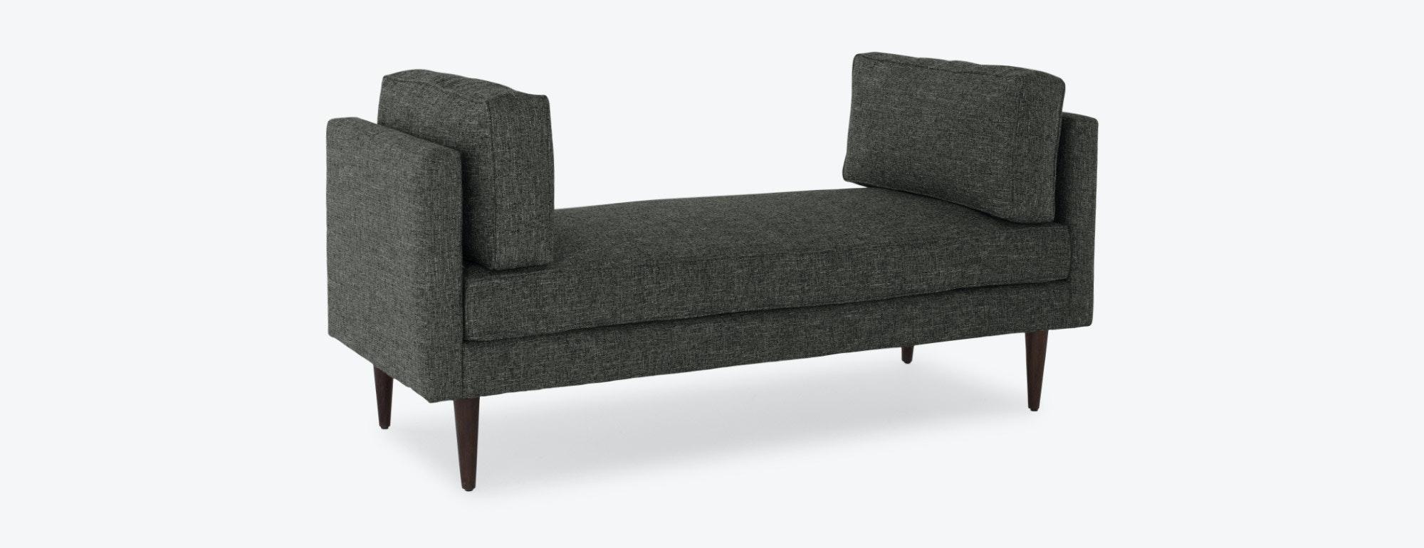 shown in Heathered Tweed Granite Fabric