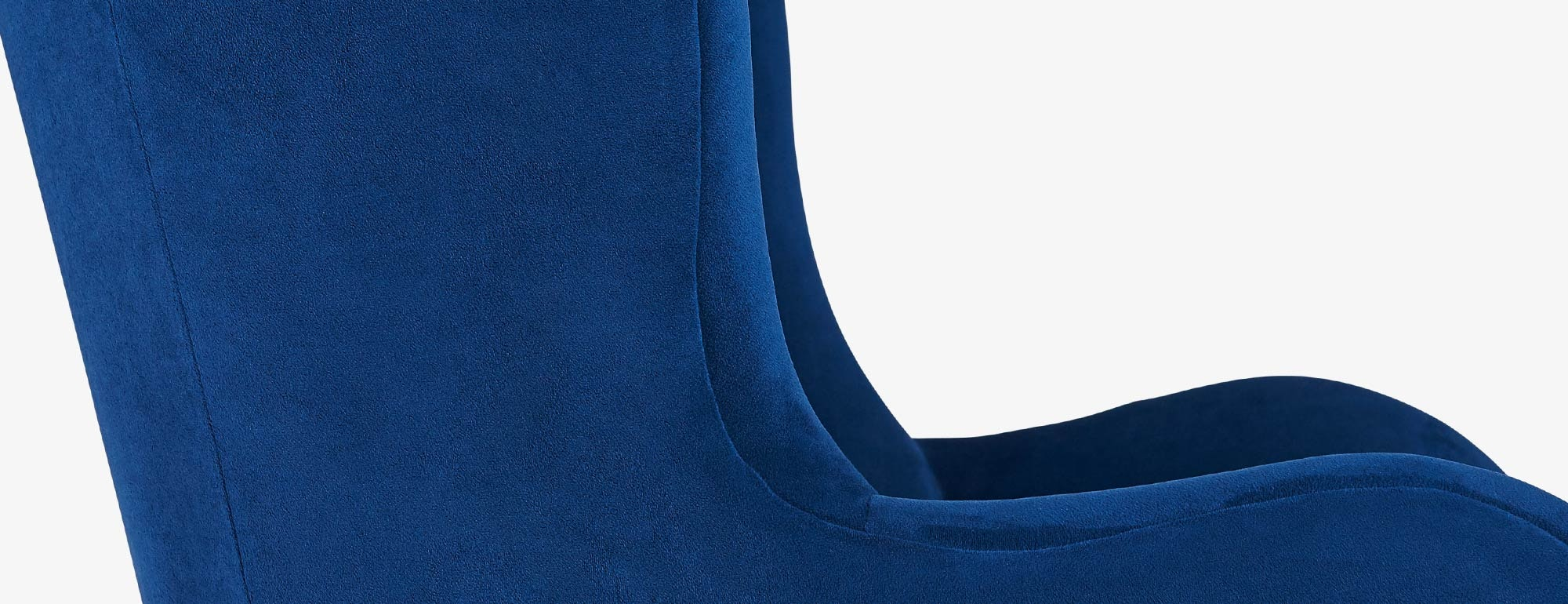 shown in Bella Navy Fabric