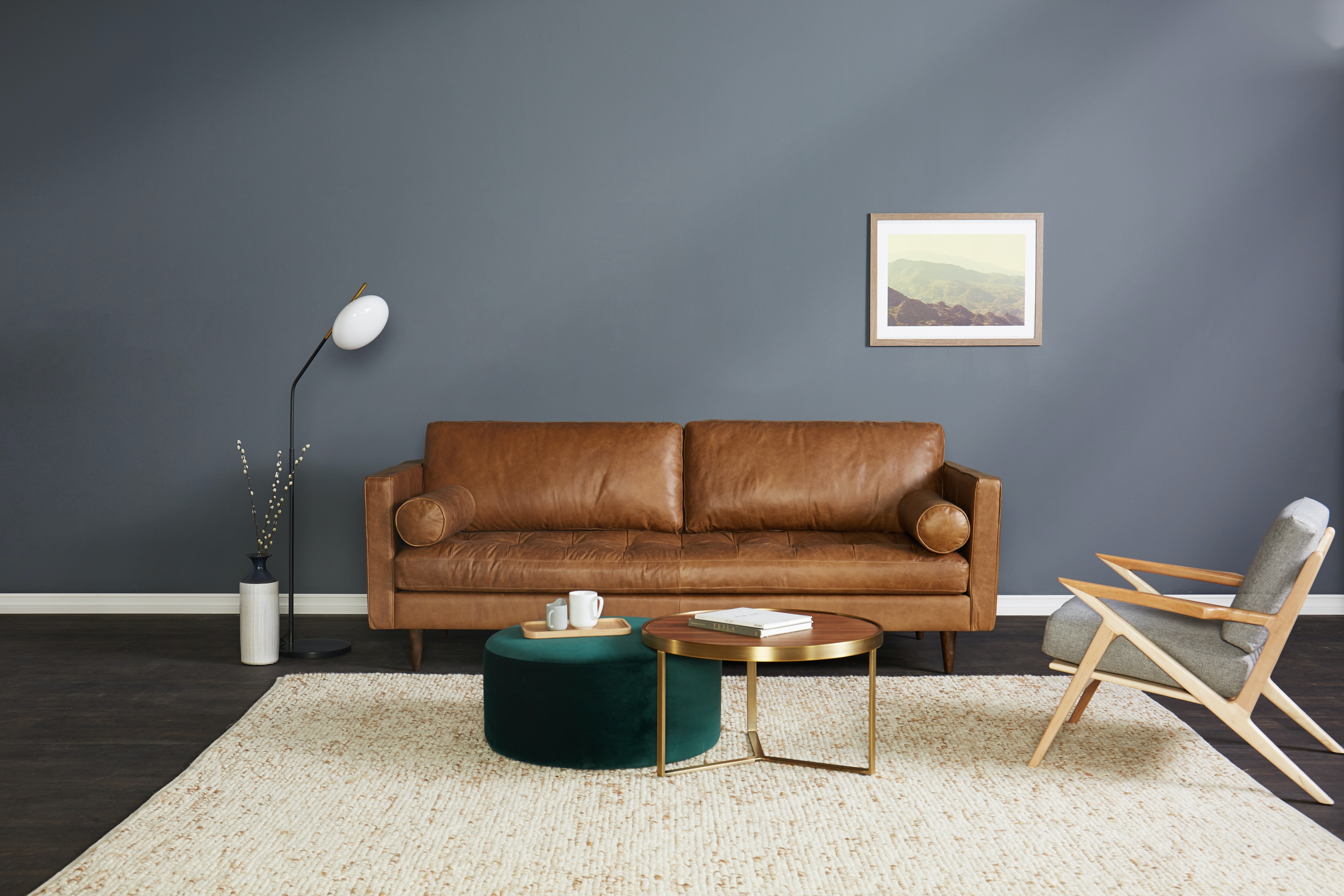 Fine Briar Leather Sofa Home Interior And Landscaping Synyenasavecom