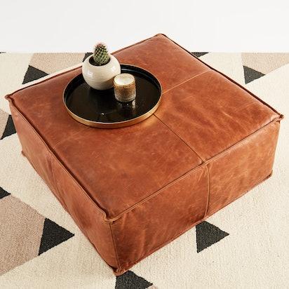 lyle leather ottoman