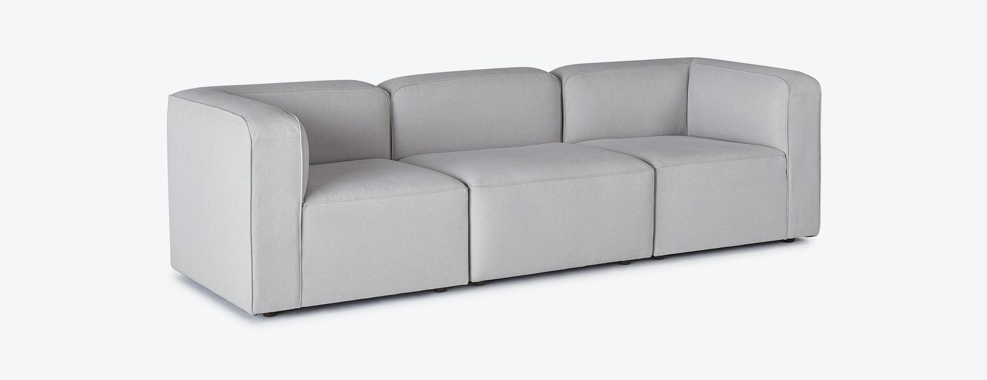 shown in Devon Platinum Fabric