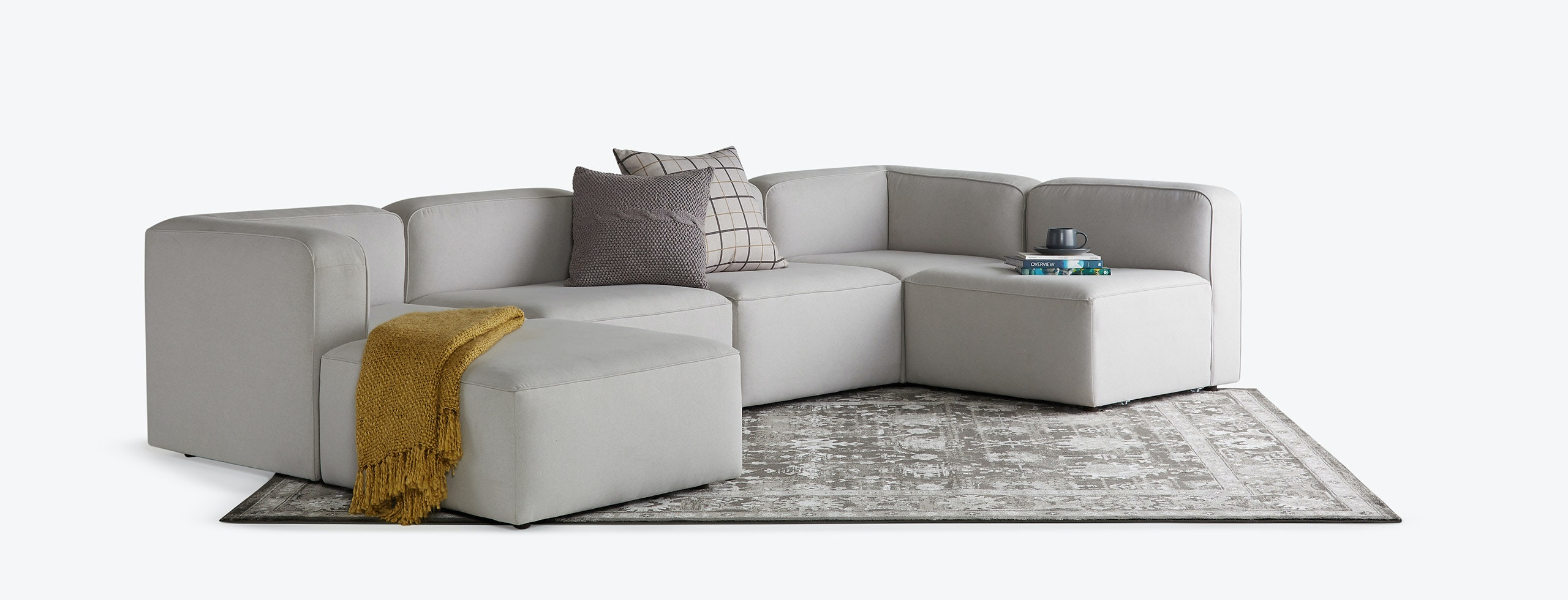 Logan U Sofa Bumper Sectional Joybird