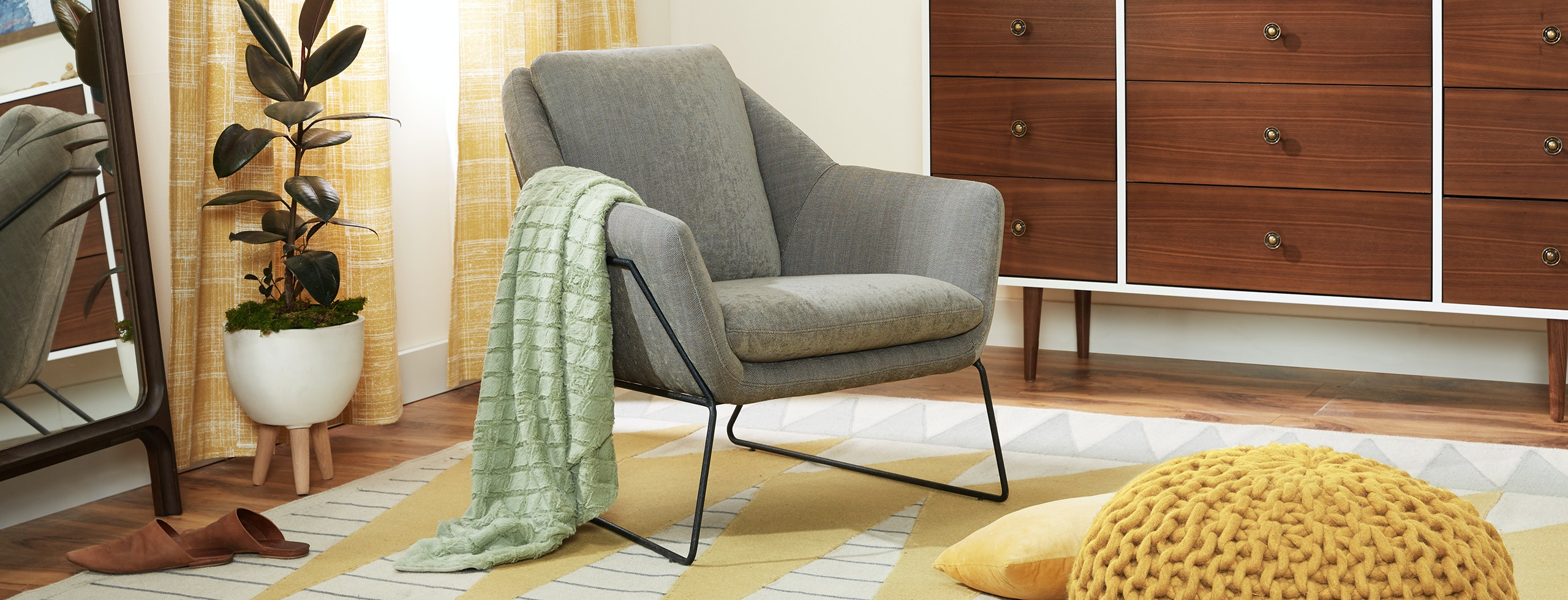 Where To Get Nice Accent Chairs.Ivo Charcoal Accent Chair