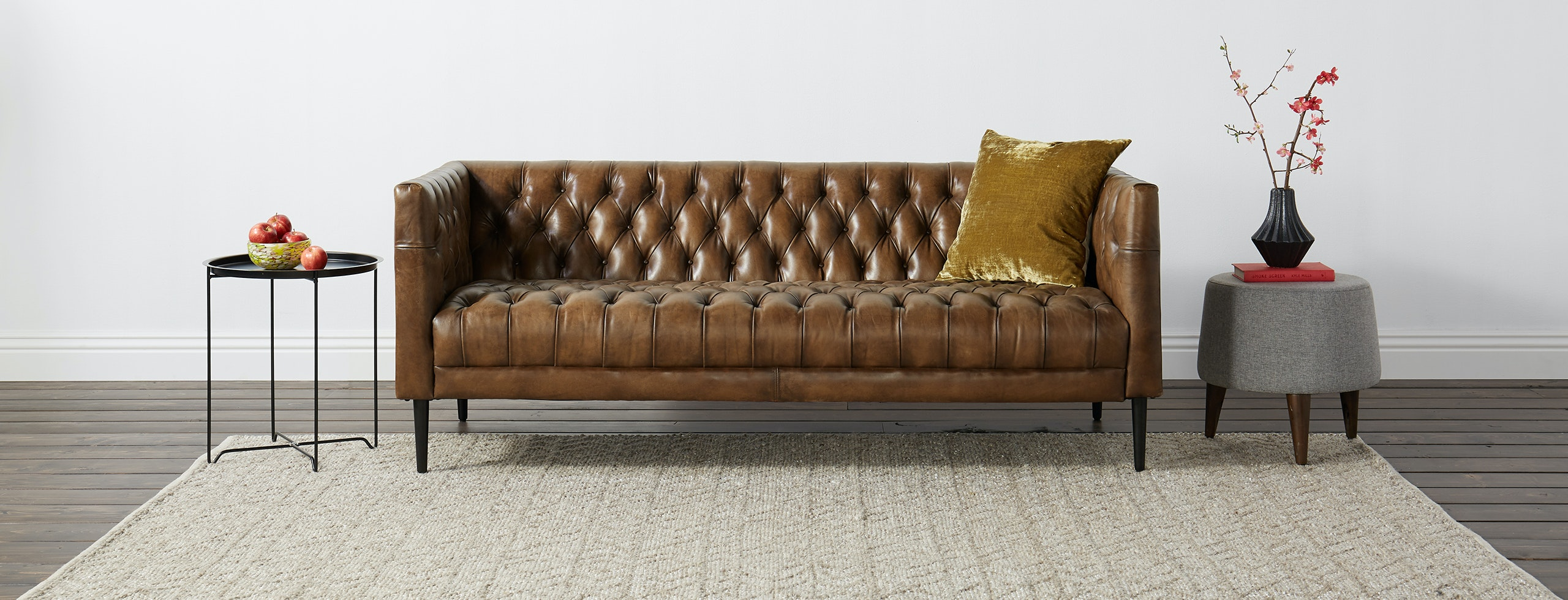 Vaughn 76 Quot Leather Sofa Joybird