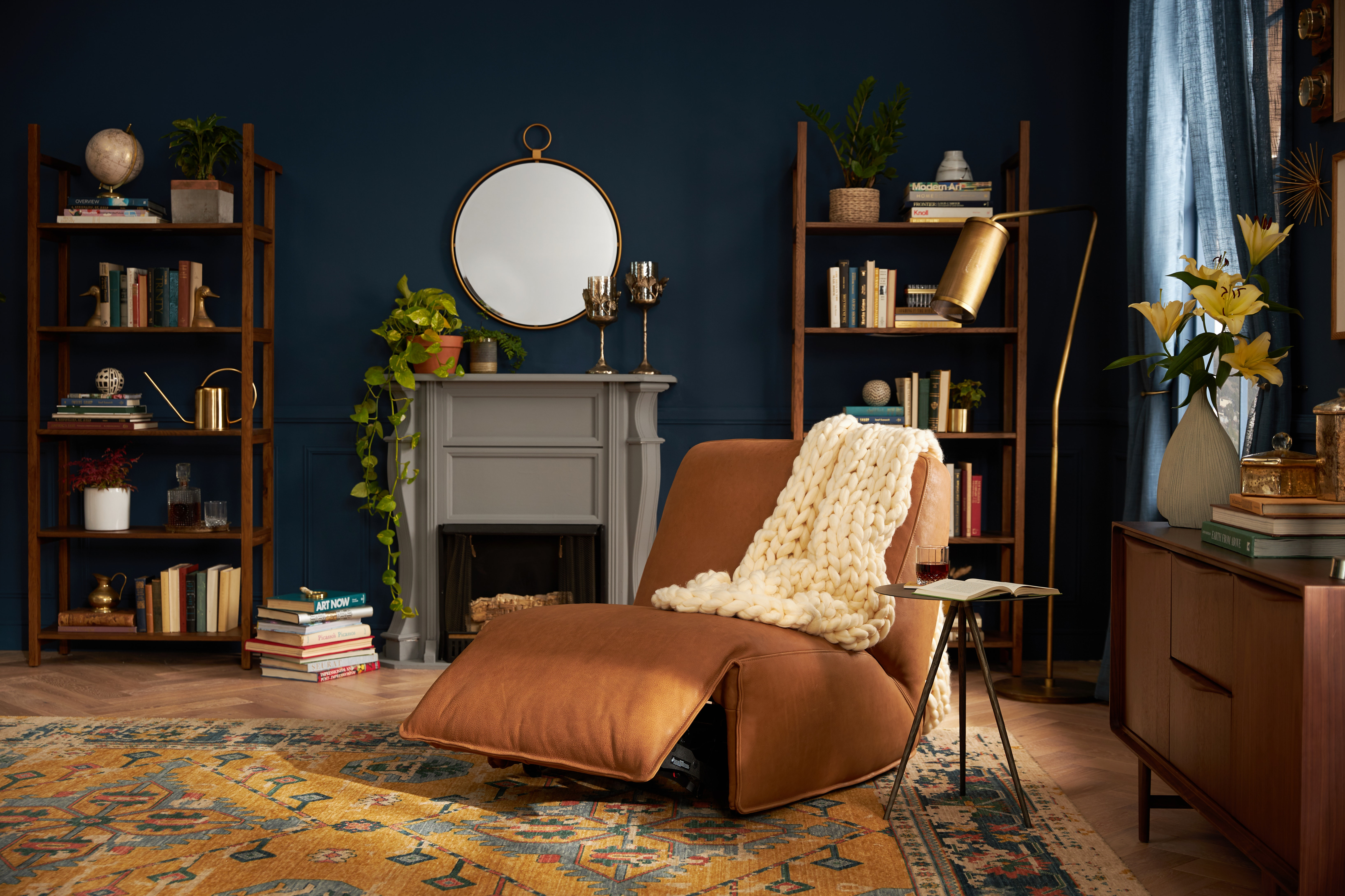 Clover Leather Chair Toledo Camel PDP Open
