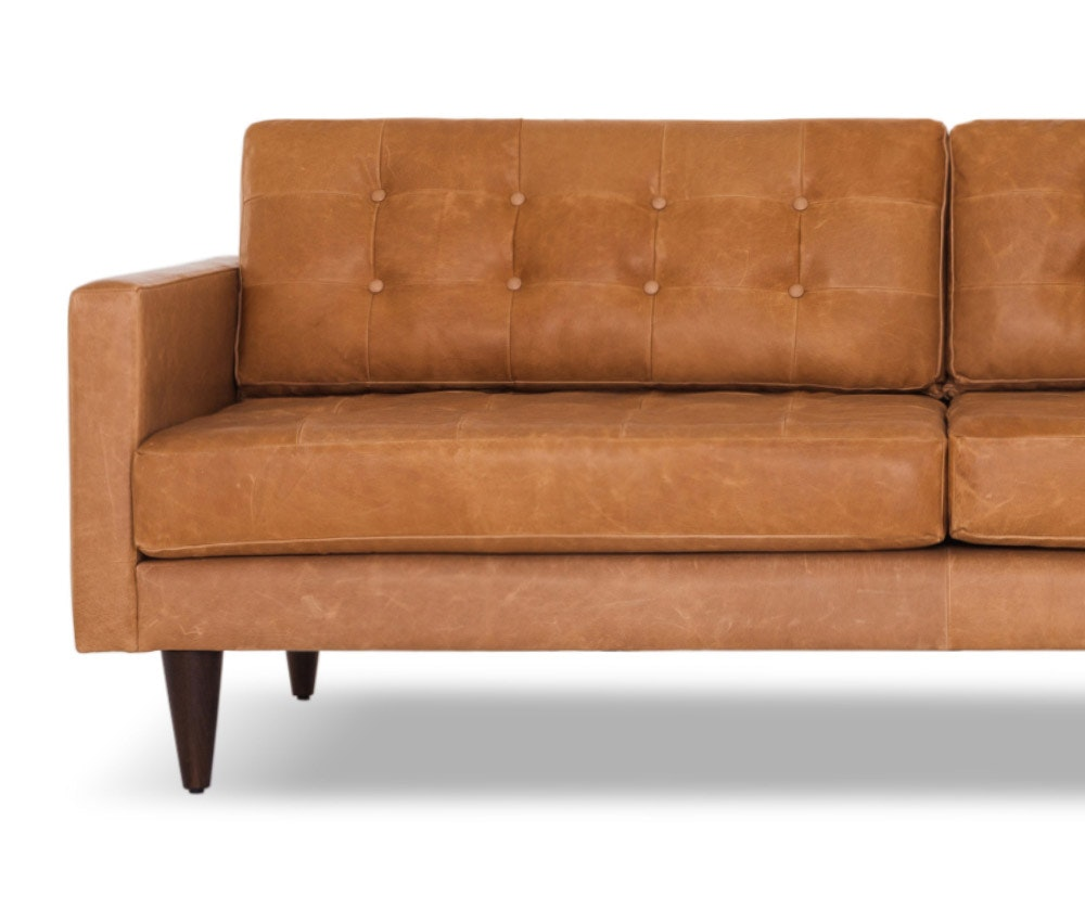 Eliot leather sofa joybird for Leather furniture