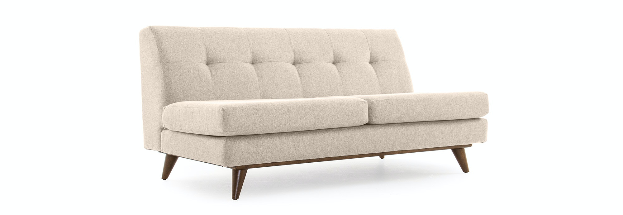 Armless Loveseat With Tufted Armless Loveseat For Modern